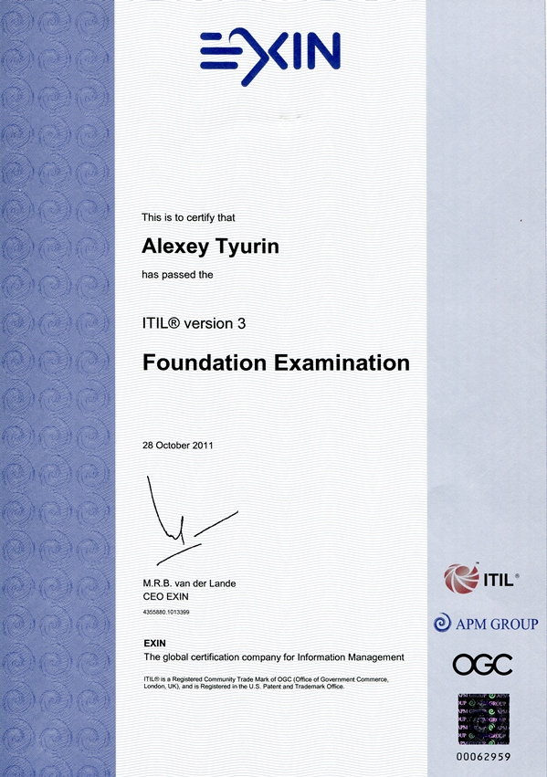 It Service Management Itil V3 Foundation Certificate In It Service